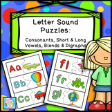 Letter Sounds: Puzzles for Consonants, Short & Long Vowels