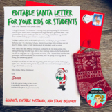 Letter from Santa to Your Class {Editable}