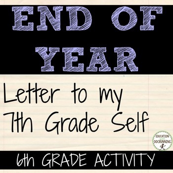 End of Year Activity: A self-reflection writing and art project for 6th graders