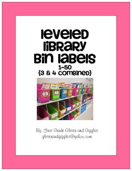 Leveled Library Book Bin Labels
