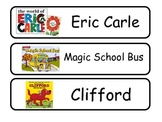Library Book Bin Labels for Library and Class Use