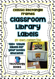 Library Book  Labels –  420+Classic Rectangle Book and Boo