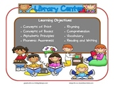 Library Learning Center Sign~ With Objectives