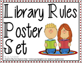 Library Rules Poster Set