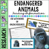 Library Task Cards: Science: Endangered Animals