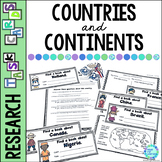 Library Task Cards: Social Studies: Countries of the World