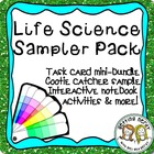 Life Science Sampler Pack: Task Cards, Cootie Catchers, IN