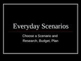 Life Skills in Math - 8 Finance Scenarios for REAL LIFE