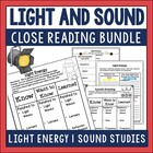 Light and Sound Close Reading and Response Bundle