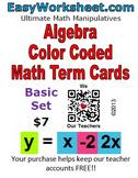 Like Term Cards - BASIC set