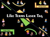 Like Terms Laser Tag and Distributive Property Practice Problems