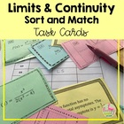 Limits and Continuity Sort & Match Activity