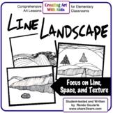 Line Landscape - A Math-Related Art Lesson