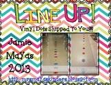 Line Up Vinyl Dots Set {1-30} Primary Colors