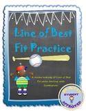 Line of Best Fit/Trend Line/Scatter plot Notes & Practice