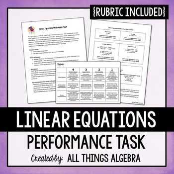 Linear Equations: Performance Task