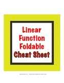 Linear Function Cheat Sheet - Foldable for the Equation of a Line