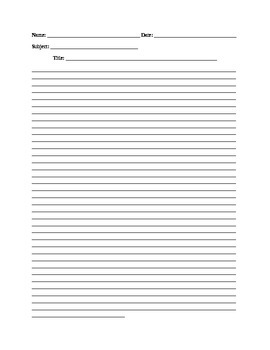 Printable Essay Writing Paper Free