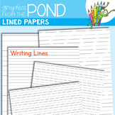 Lined Papers - Graphics to Make Worksheets and Resources