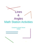 Lines and Angles Math Stations