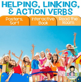 Linking Verbs, Helping Verbs, Action Verbs Activity Pack