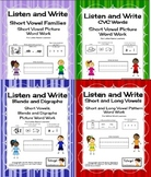 Phonics Listen and Write Books 1, 2, 3 and 4 Bundle - Phon