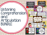 Listening Comprehension and Articulation BUNDLE