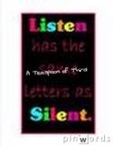 Listening silently