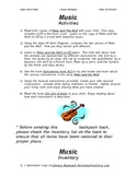 Literacy Backpack - MUSIC