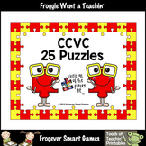 Literacy Center--CCVC Puzzles (25 two piece puzzles)