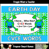 Literacy Center--Happy Earth Day I Have... Who Has? CVCE Words