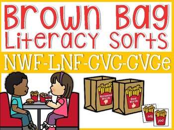 Literacy Center Sorts {Brown Bag Special}