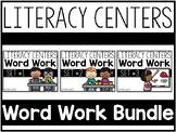 Literacy Centers Super Packs 1-3 BUNDLED