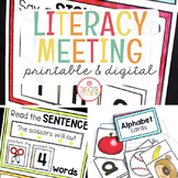 Literacy Circle Time Charts {BUNDLE}