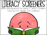 Literacy Screeners {Rising 1st and 2nd Graders}