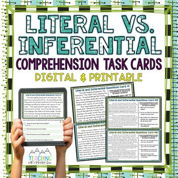 Literal Vs. Inferential Comprehension Task Cards { Inference in Passages )