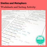 Literary Elements: Similes and Metaphors Worksheets (Commo
