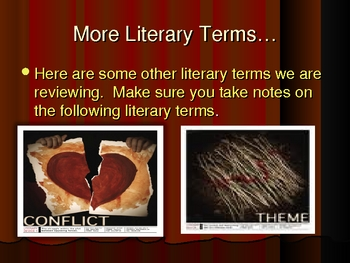 Literary Terms Powerpoint Lesson