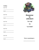 Literature Club Response Log Cover