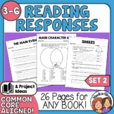 Reading Response Printables #2 - Use with Any Book! CCSS Aligned