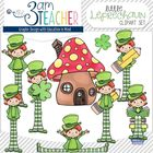 Little Leprechaun Clipart Set