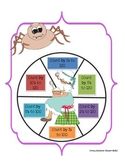 Little Miss Muffet-Themed Counting Spinner for First Grade
