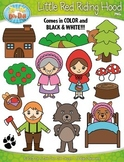 Little Red Riding Hood Fairy Tale Clip Art Set — Over 55 G