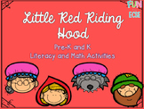 Little Red Riding Hood Pre-K and K Literacy and Math Activ