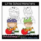Little School Monsters Clipart