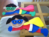 Little Super Heroes Wall Decoration (Set of 2)