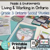Living and Working in Ontario Unit! Grade 3 Ontario Social