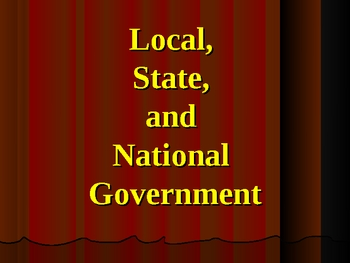 Local, State, and National Government PowerPoint Presentation