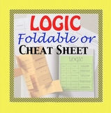 Conditional Statements Logic Foldable and Cheat Sheet