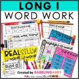 Long I Word Work Activities